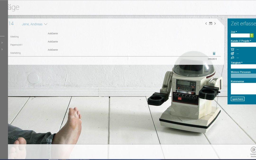 UPDATE – Neue Menüführung und PDF Timesheets