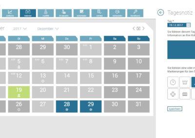 Mitarbeiter Kalender Zeitkonto