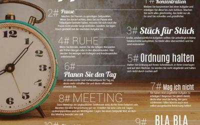 INFOGRAFIK: 10 Tipps gegen Zeitfresser im Büro